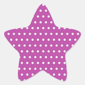 purple scores pünktchen polka dots hots scored do star sticker