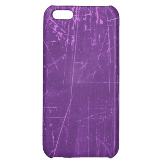 Purple Scratched Aged and Worn Texture iPhone 5C Cases