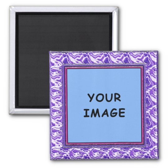 Purple Sculptured Photo Frame Magnet