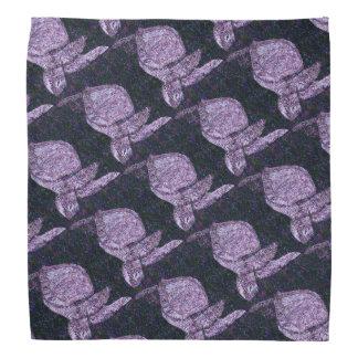 Purple Sea Turtles Patterned Kerchief