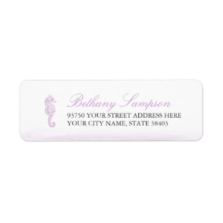 Purple Seahorse Return Address Labels