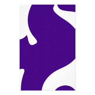 Purple Seahorse Stationery