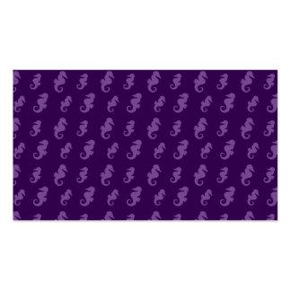 Purple seahorses business card