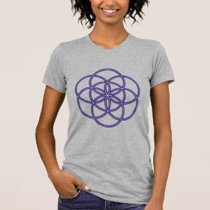 Purple Seed of Life Sacred Geometry T-Shirt