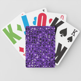 Purple Sequin Effect Bicycle Poker Deck