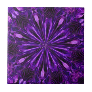 Purple sequin kaleidoscope tile
