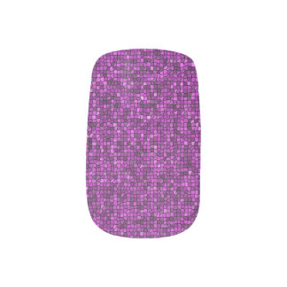 Purple Sequin Look Nail Stickers