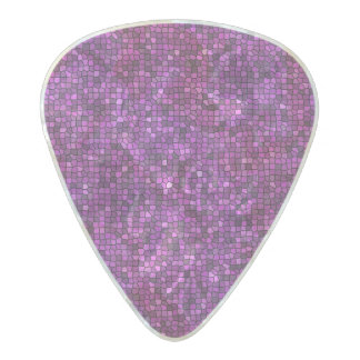 Purple Sequin Look Pearl Celluloid Guitar Pick