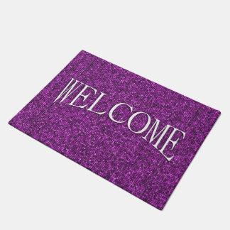 Purple Sequin Look Welcome Doormat