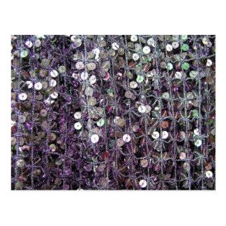 Purple Sequins & Beads Postcards