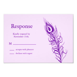 Purple Shake your Tail Feathers RSVP Card