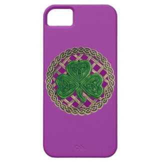 Purple Shamrock And Celtic Knots iPhone 5 Case