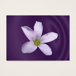 Purple Shamrock ~ ATC Business Card