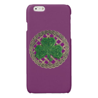 Purple Shamrock On Celtic Knots iPhone 6 Case iPhone 6 Plus Case