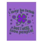 Purple Shamrock St. Patrick's Day Design
