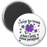 Purple Shamrock St. Patrick's Day Design Magnets