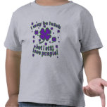 Purple Shamrock St. Patrick's Day Design T Shirt