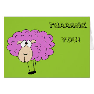 Purple sheep greeting card