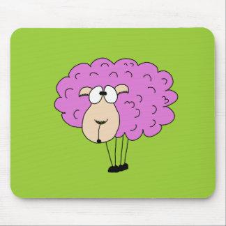 Purple sheep mouse pad