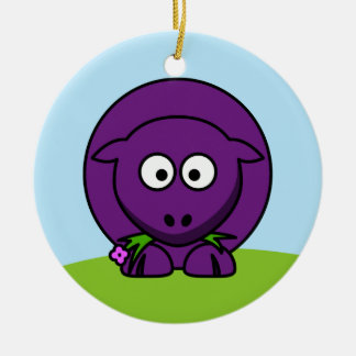 Purple Sheep Ornament