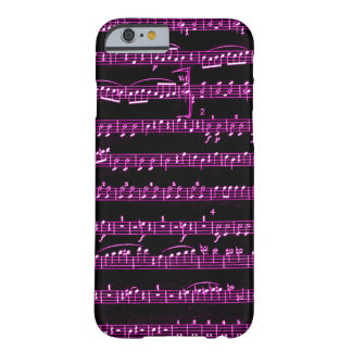 Purple Sheet Music Barely There iPhone 6 Case