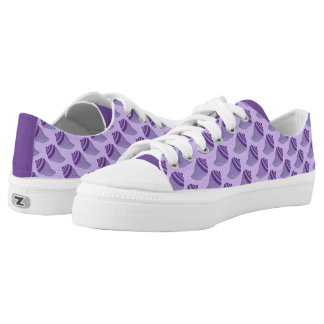 Purple Shells Seashell Seashells Beach Snakers Printed Shoes