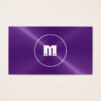 Purple Shiny Stainless Steel Metal Business Card