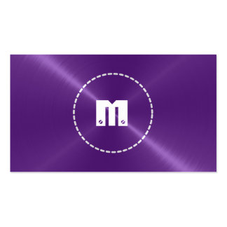 Purple Shiny Stainless Steel Metal Pack Of Standard Business Cards