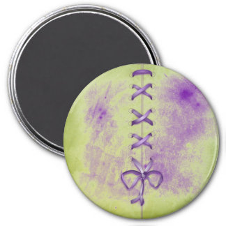 Purple Shoe Laces Magnet