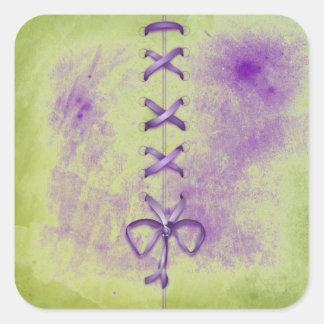 Purple Shoe Laces Sticker