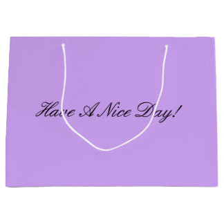 Purple Shopping Bag
