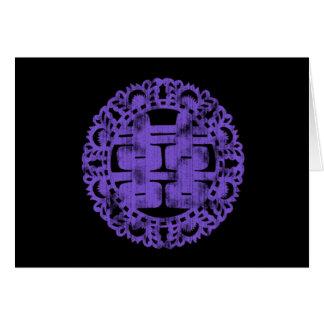Purple Shuan Xi Card