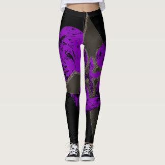 Purple Shurikan Leggings