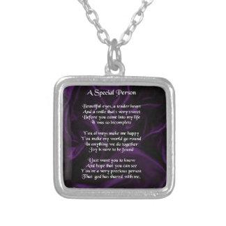 Purple Silk - Special Person poem Pendants