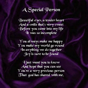 Your A Special Person Poem A Poem For A Special Person