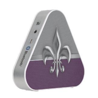 Purple Silver Fleur de lis