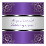 Purple Silver Floral 25th Anniversary Party Event