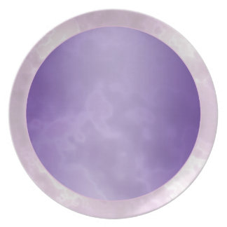 Purple Silver Marbled Melamine Plate