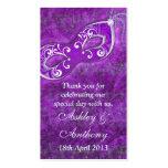 Purple Silver Masquerade Wedding Favour Tags