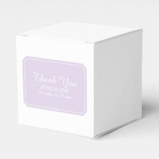 Purple Simply Elegant Favor Boxes