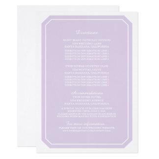 Purple Simply Elegant Information Card