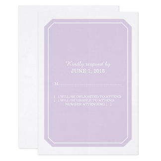 Purple Simply Elegant Response Card
