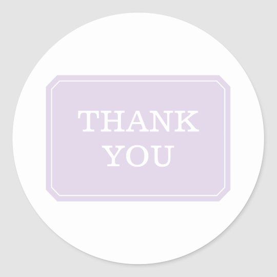 Purple Simply Elegant Thank You Stickers