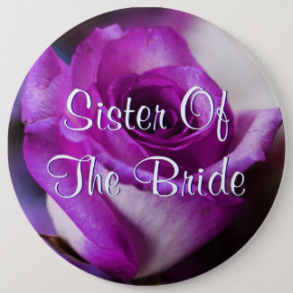 Purple Sister Of The Bride Rose 6 Cm Round Badge