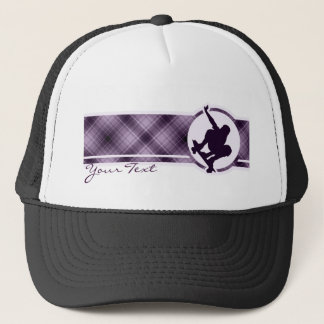 Purple Skateboarding Trucker Hat