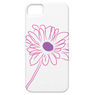 Purple Sketched Flower iPhone 5 Case