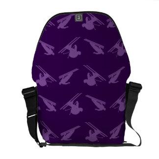 Purple ski pattern courier bags