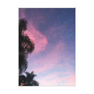 Purple skies canvas print