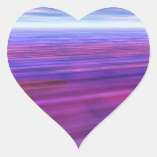 Purple Skies Heart Stickers