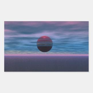 Purple Skies Rectangle Sticker